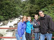 Our family on the trek to Doubtful Sound.